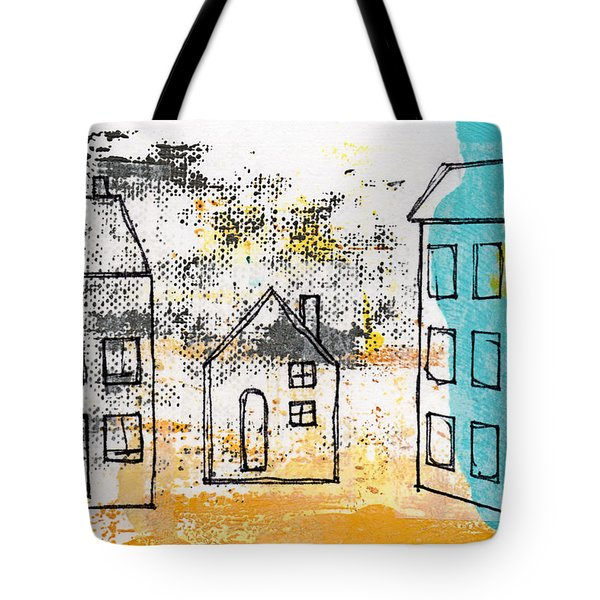Blue House Tote Bag