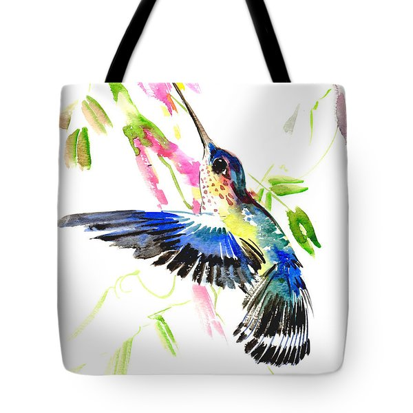 Blue Hummingbird Tote Bag