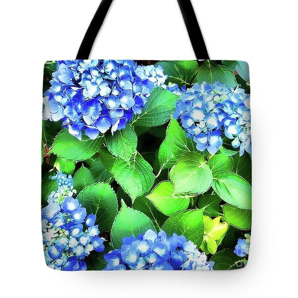 Blue Hydrangea Tote Bag