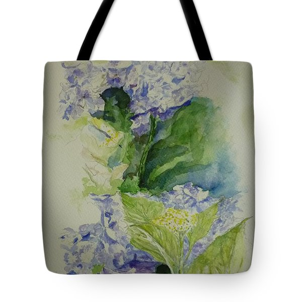 Blue Hydrangea Tote Bag by Lizzy Forrester