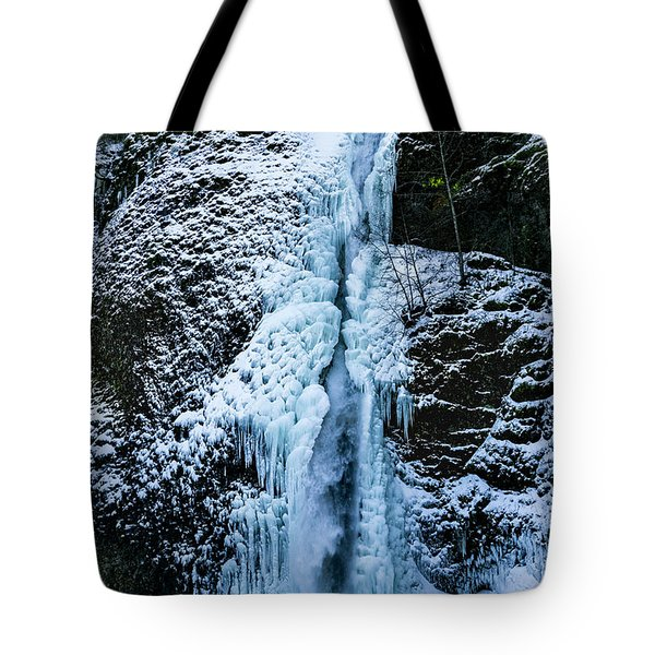 Blue Ice And Water Tote Bag