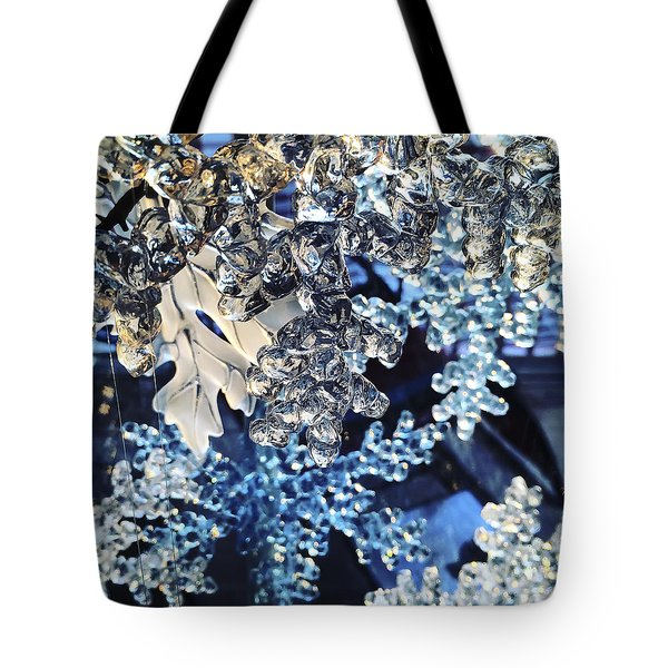 Tote Bag featuring the photograph Blue Ice by KG Thienemann