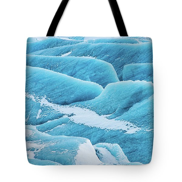 Tote Bag featuring the photograph Blue Ice Svinafellsjokull Glacier Iceland by Matthias Hauser