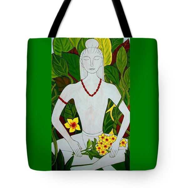 Tote Bag featuring the painting Blue Idol by Stephanie Moore