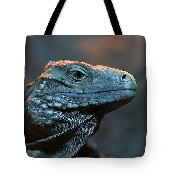 Blue Iguana Tote Bag