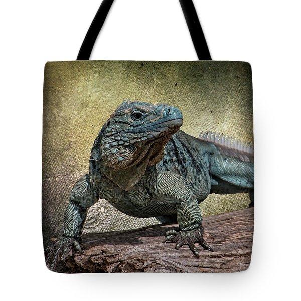 Blue Iguana Tote Bag