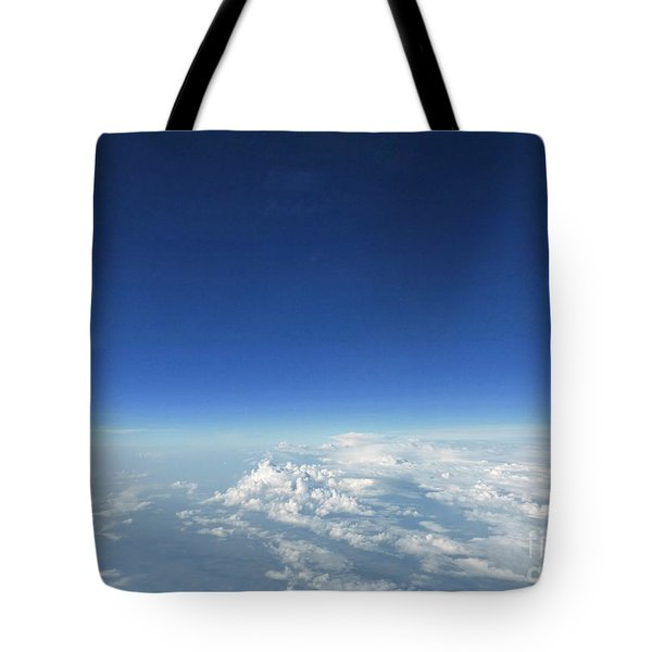 Blue In The Sky Tote Bag by AmaS Art