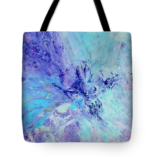 Tote Bag featuring the painting Blue Indigo by Irene Hurdle