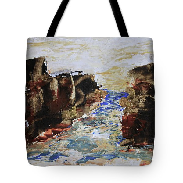 Blue Inlet Abstract Tote Bag