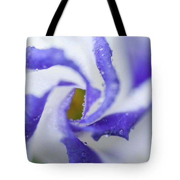Tote Bag featuring the photograph Blue Inspiration. Lisianthus Flower Macro by Jenny Rainbow