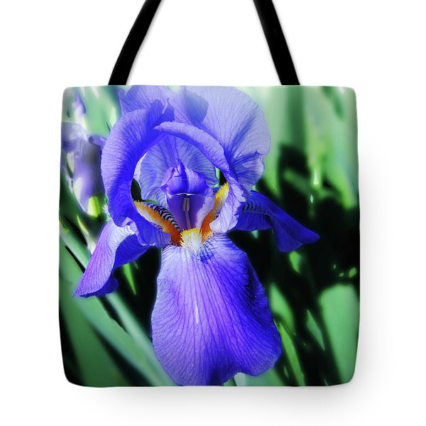 Blue Iris 2 Tote Bag