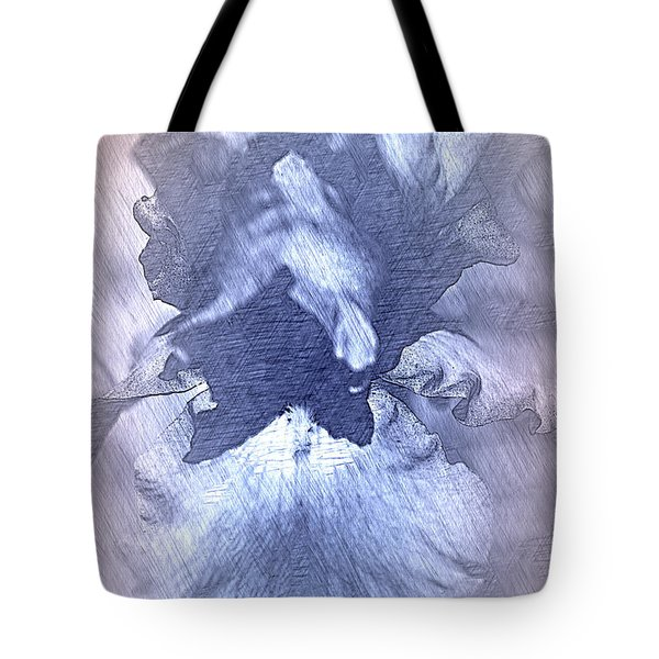 Blue Iris Abstract Tote Bag