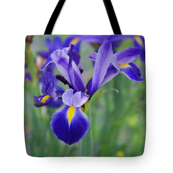 Blue Iris Flower Tote Bag