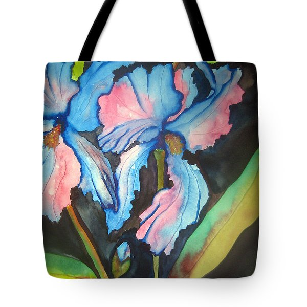 Blue Iris Tote Bag by Lil Taylor