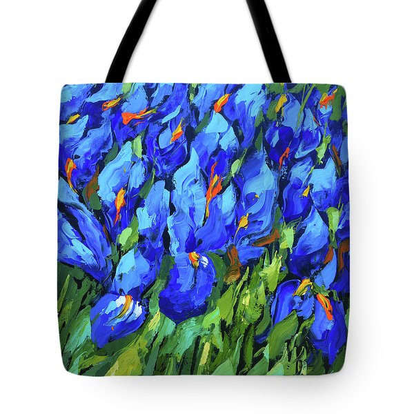 Blue Irises Tote Bag