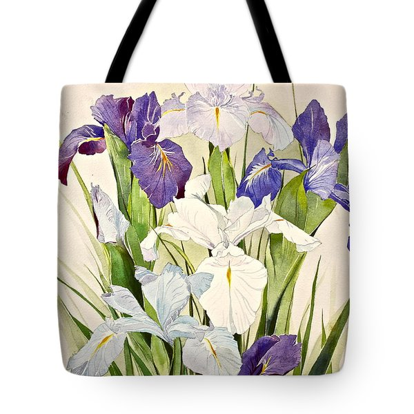 Blue Irises-posthumously Presented Paintings Of Sachi Spohn  Tote Bag