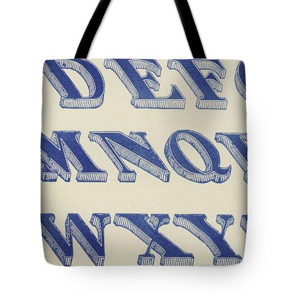 Blue Italian Shaded Font Tote Bag