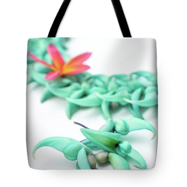 Blue Jade Lei Tote Bag
