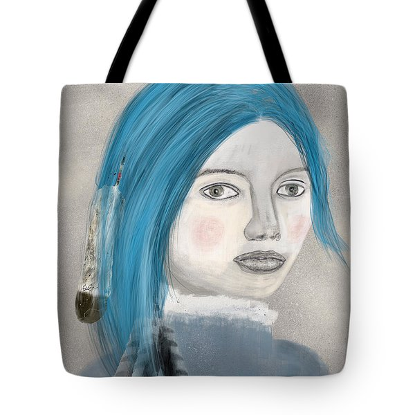 Tote Bag featuring the painting Blue Jasmine by Bri B
