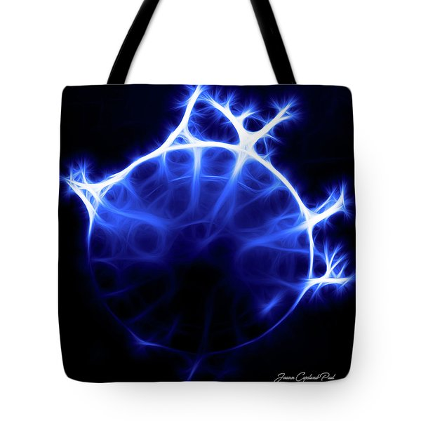 Blue Jelly Fish Tote Bag by Joann Copeland-Paul