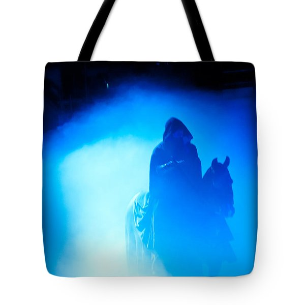 Tote Bag featuring the photograph Blue Knight by Louis Dallara