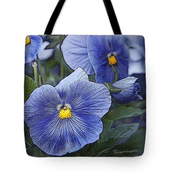 Blue Ladies Tote Bag