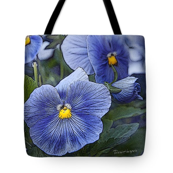 Blue Ladies Tote Bag