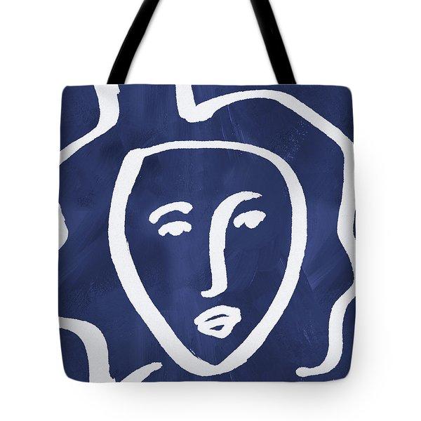 Blue Lady- Art By Linda Woods Tote Bag