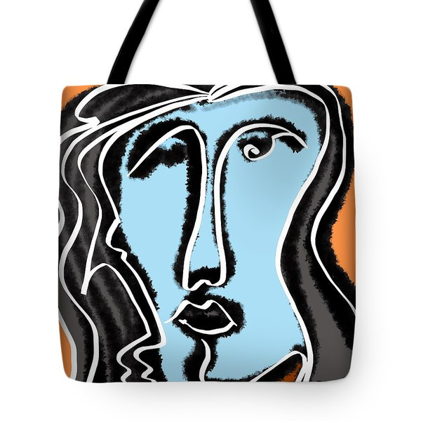Blue Lady Tote Bag