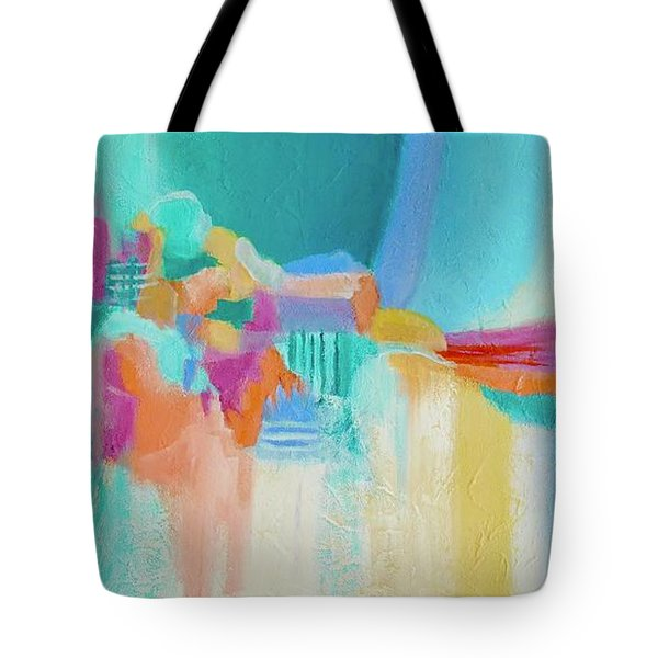 Tote Bag featuring the painting Blue Lagoon by Irene Hurdle