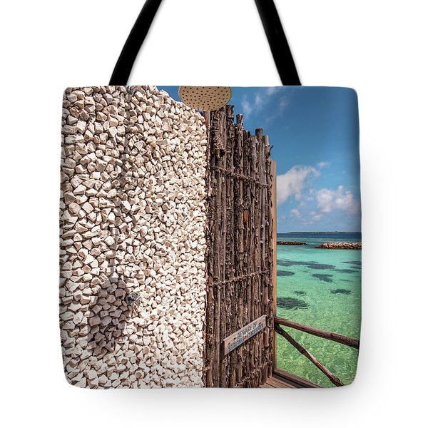 Tote Bag featuring the photograph Blue Lagoon View 1 by Jenny Rainbow