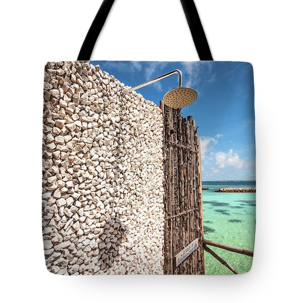 Tote Bag featuring the photograph Blue Lagoon View by Jenny Rainbow