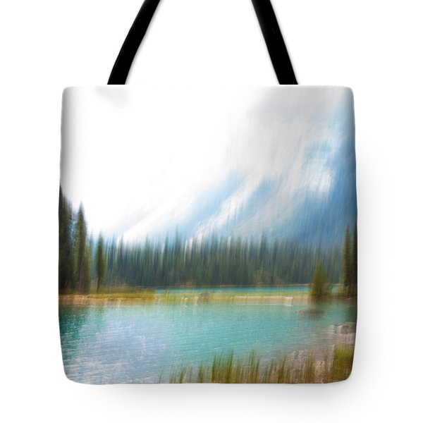 Blue Lake Tote Bag by Catherine Alfidi