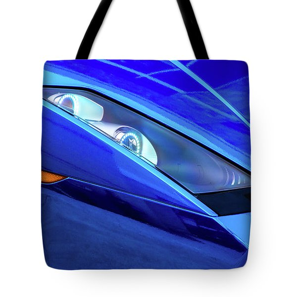 Blue Lamboghini Tote Bag
