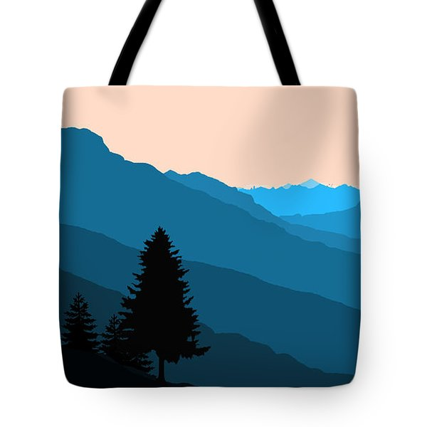 Blue Landscape Tote Bag