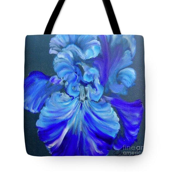 Blue/lavender Iris Tote Bag