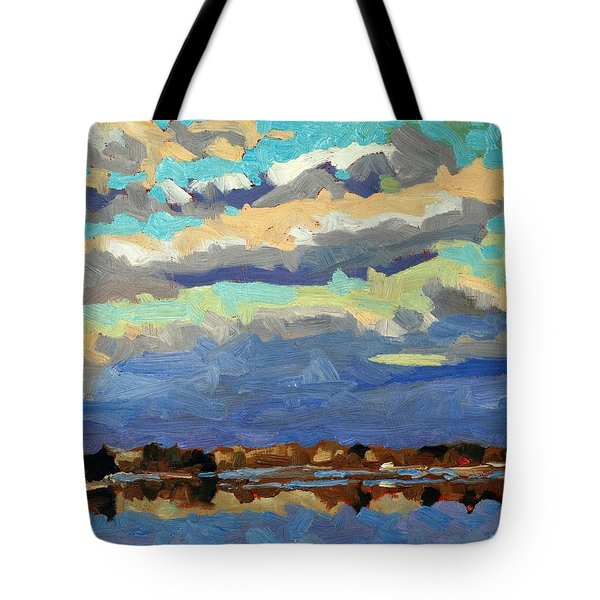 Blue Line Tote Bag by Phil Chadwick