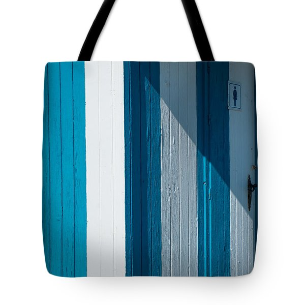 Blue Lined Tote Bag