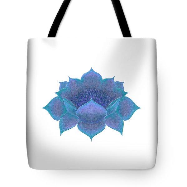 Tote Bag featuring the digital art Blue Lotus by Elizabeth Lock