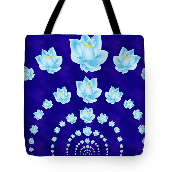 Blue Lotus Tunnel Tote Bag