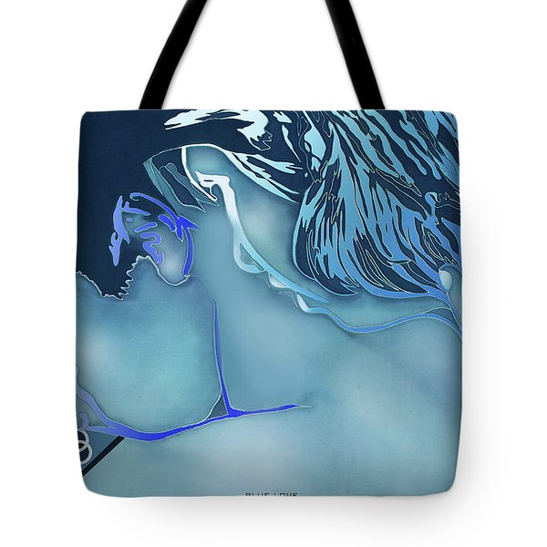 Blue Love Tote Bag