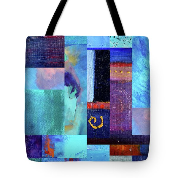 Tote Bag featuring the digital art Blue Love by Nancy Merkle