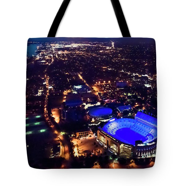 Blue Lsu Tiger Stadium Tote Bag
