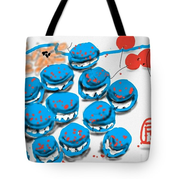 blue Macaroons for golden gal Tote Bag