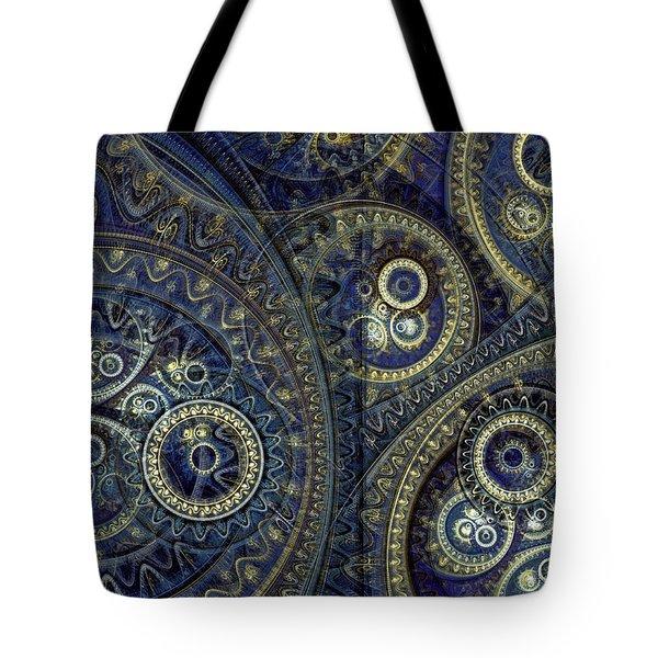 Blue Machine Tote Bag by Martin Capek