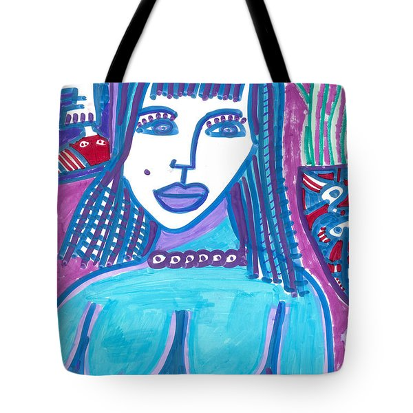 Tote Bag featuring the painting Blue Madonna by Don Koester