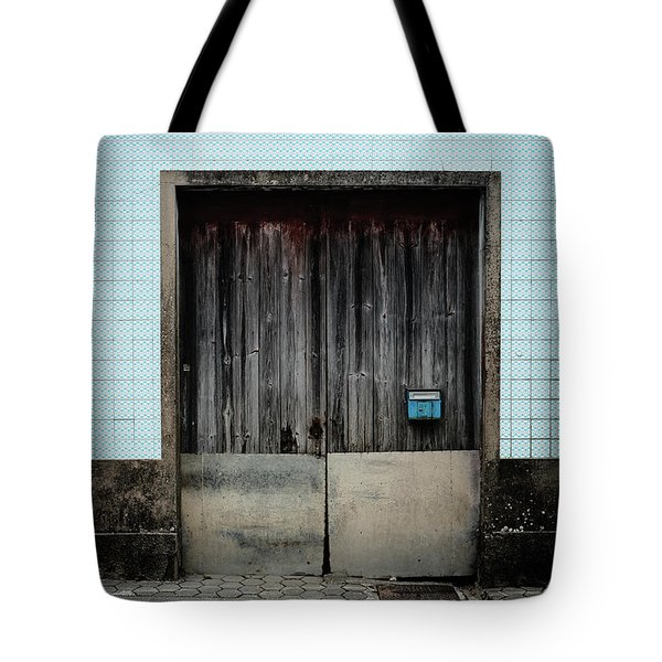 Tote Bag featuring the photograph Blue Mailbox by Marco Oliveira