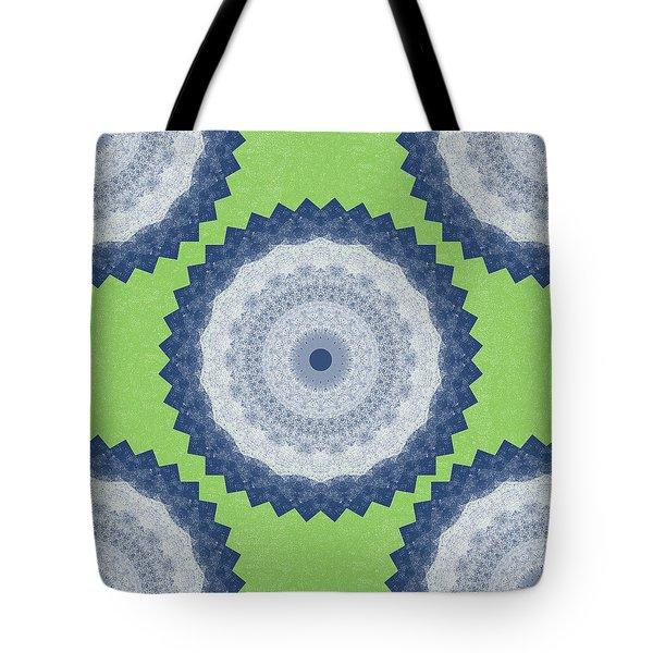 Blue Mandala- Art By Linda Woods Tote Bag