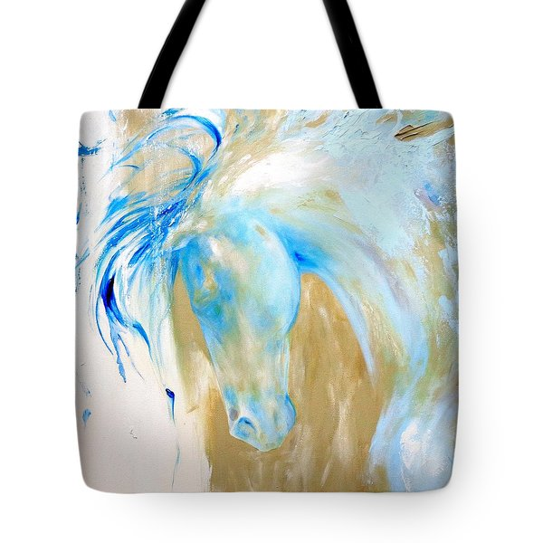 Blue Mane Tote Bag by Dina Dargo
