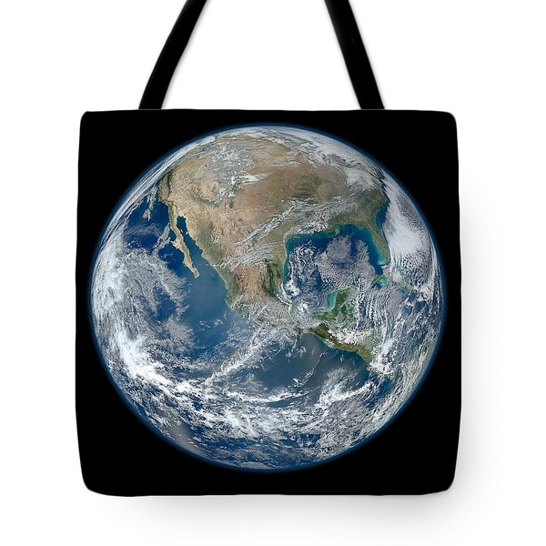 Blue Marble 2012 Planet Earth Tote Bag by Nikki Marie Smith